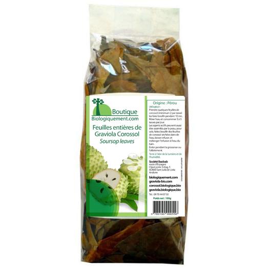 Achetez des feuilles de graviola: L'Acétogénine de la feuille de Graviola corossol, la molécule de l'agent actif anti-cancer naturel puissant
